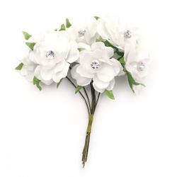 текстилно цвете с кристал
