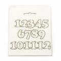 цифри от бирен картон