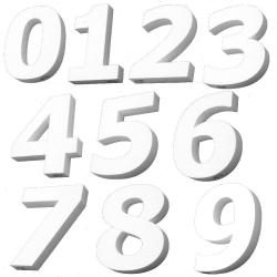 цифра от стиропор