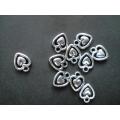 метализирано сърце - висулка